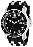 Invicta Men's 'Pro Diver' Automatic Stainless Steel and Polyurethane Diving Watch, Color:Black (Model: 23626)