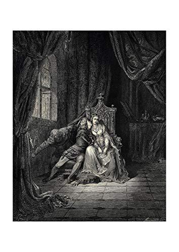 Canto Matte Four 5 - Spiffing Prints Gustave Doré - Dante's Inferno - Canto 5-2 - Extra Large - Matte - Framed