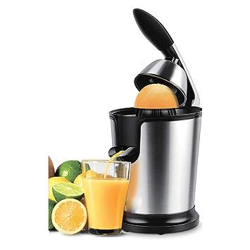 ZZJQ Batidora De Vaso Exprimidor Acero Inoxidable Naranja 160 Vatios Limón Juego Eléctrico Exprimidores Aluminio Troquelado