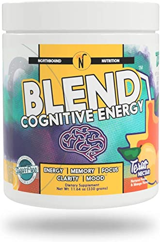 NorthBound Nutrition Blend Cognitive Energy Endurance Formula Supplement – Mental Boost with Caffeine for Memory, Focus, Clarity and Mood Wellness Texas Nectar