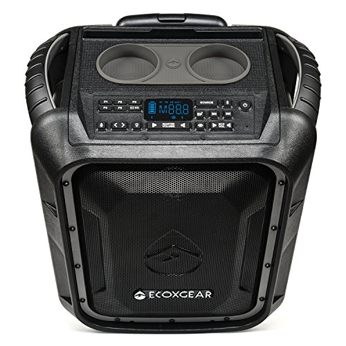 - ECOXGEAR EcoBoulder+ GDI-EXBLD810 Rugged Waterproof Floating Portable Bluetooth Wireless 100 Watt Speaker and PA System (Gray)
