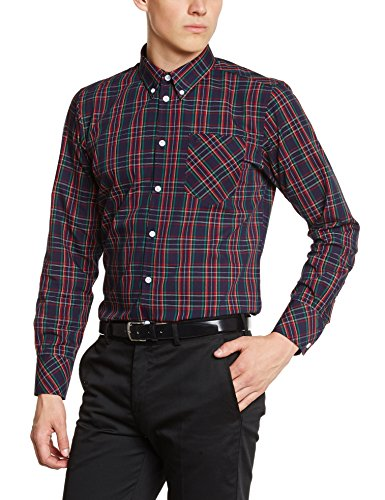 Manga London Of Azul Merc 1509214002 Marino Camisa Larga Hombre De Casual Para WZCqYw5Hq
