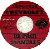 1934 1935 1936 CHEVROLET CARS REPAIR SHOP & SERVICE MANUAL CD INCLUDES: Standard series DC, EC & FC, Master Deluxe series DA, ED/EA & FD/FA, Sedan Delivery CHEVY 34 35 36