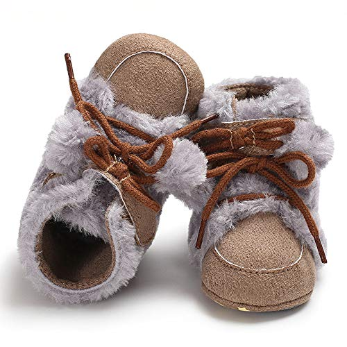 Kids Baby Snow Boots Girl Boy Soft Booties Hair Ball Bandage Shoes Warm  Winter Walking Shoes 5853d95a6402