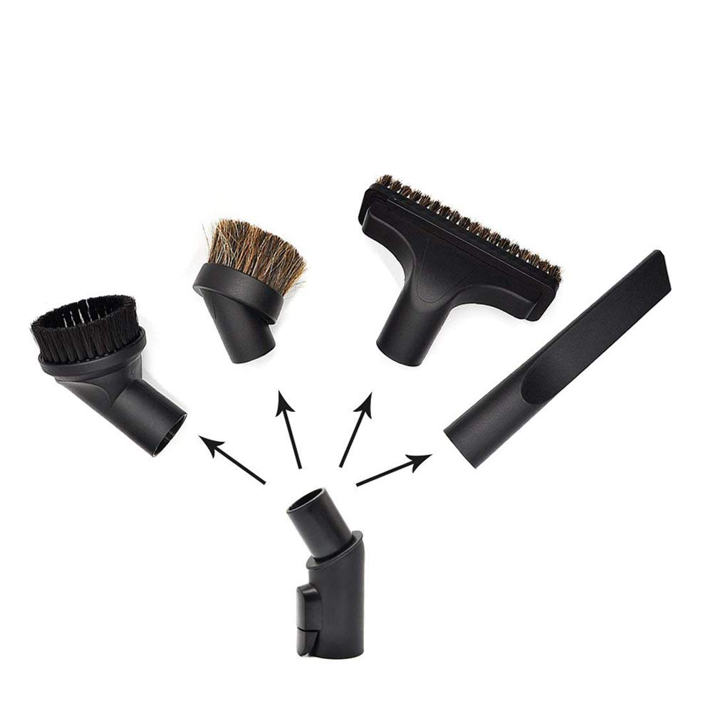 EZ SPARES 4 PCS Vacuum Cleaner Horsehair Small Dust Brush for Miele, Crevice Tool Kits Accessories for Miele Parquett Twister SBB Brush Attachment PP
