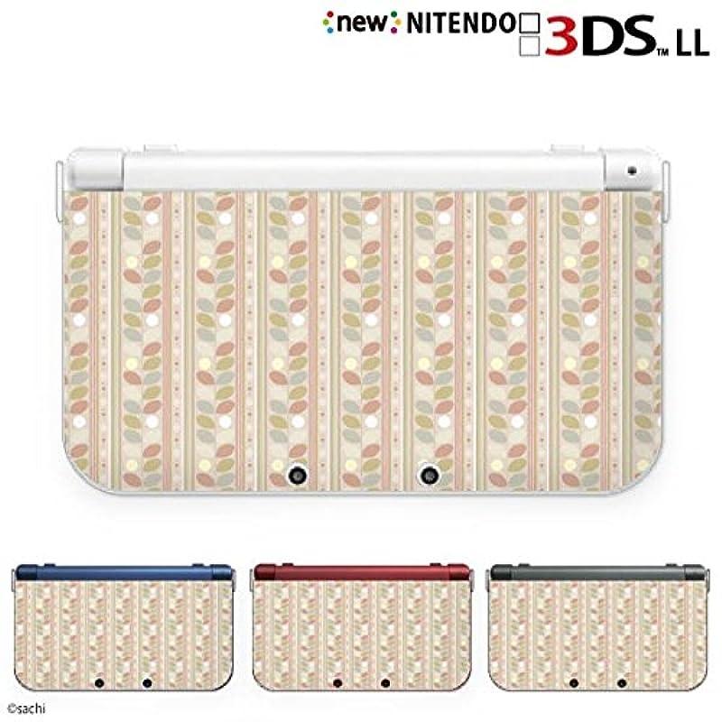 new Nintendo 3DS LL 커버 케이스 하드 GIRLS 21 풀꽃 파스텔 베이지계