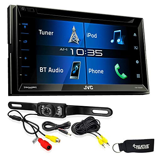 JVC KW-V330BT 6.8″ Double DIN Bluetooth in-Dash DVD/CD/AM/FM/Digital Media Car Stereo with Rear View Camera