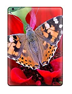 JZhkBsz849GlClM Case Cover Protector For Ipad Air Butterfly On A Red Flower Case by Maris's Diary