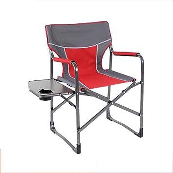 Silla Camping con Mesa Plegable, Aire Libre Ligero Aluminio ...