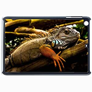 Customized Back Cover Case For iPad Mini 2 Hardshell Case, Black Back Cover Design Iguana Personalized Unique Case For iPad Mini 2