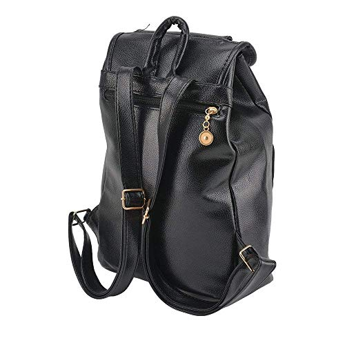 Satchel for Bags Ladies Daypack PetHot Travel College Leather Bag School Girls Backpack PU Black Casual Rucksack Womens Shoulder Knapsack waCqwOxP