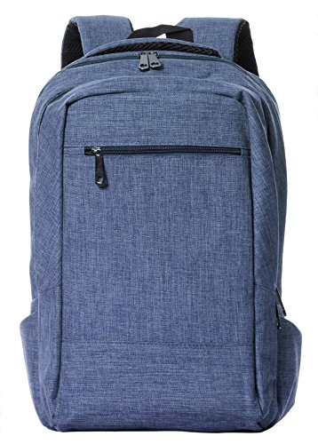 Veenajo Lightweight Laptop Backpack College School Large Travel Bag Fits Up To 15.6-Inch Laptop Blue