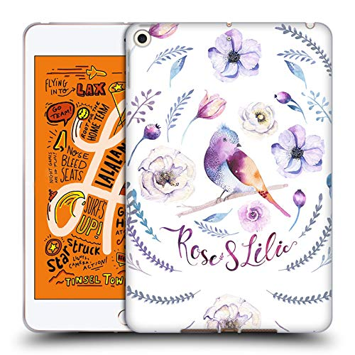 Official Kristina Kvilis Rose and Lily 2 Birds Soft Gel Case Compatible for iPad Mini (2019)