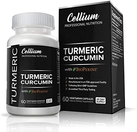 Turmeric Curcumin Capsules RELIEVES Joint Pain and REDUCES Inflammation All Natural Anti-Inflammatory Supplement with BioPerine for Increased Absorption 95 Curcuminoids