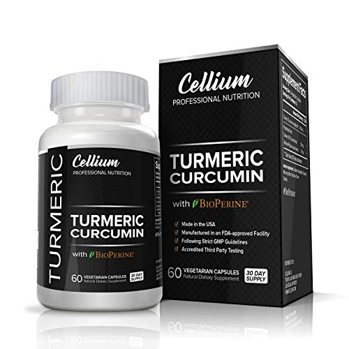 Turmeric Curcumin Capsules  RELIEVES Joint Pain and REDUCES Inflammation  All Natural AntiInflammatory Supplement with BioPerine for Increased Absorption   95% Curcuminoids