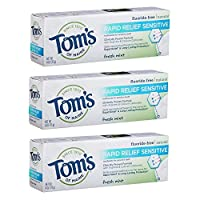 Deals on 3-Pk Toms of Maine Natural Rapid Relief Sensitive Toothpaste 4oz