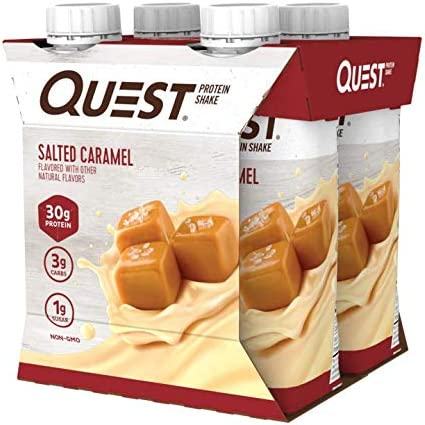 Quest Nutrition Ready to Drink Salted Caramel Protein Shake, High Protein, Low Carb, Gluten Free, Keto Friendly, 11 Fl Oz (Pack of 12)