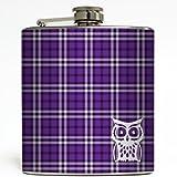 Hedwig - Purple Plaid - Liquid Courage Flasks - 6 oz. Stainless Steel Flask