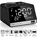 Alarm Clock Radio,Leyeet Wireless Bluetooth Speaker,USB Charger,TF Card Play, Thermometer, Large...