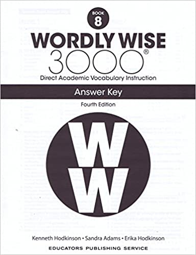 Wordly Wise 3000 Fourth Edition Answer Key Grade 8