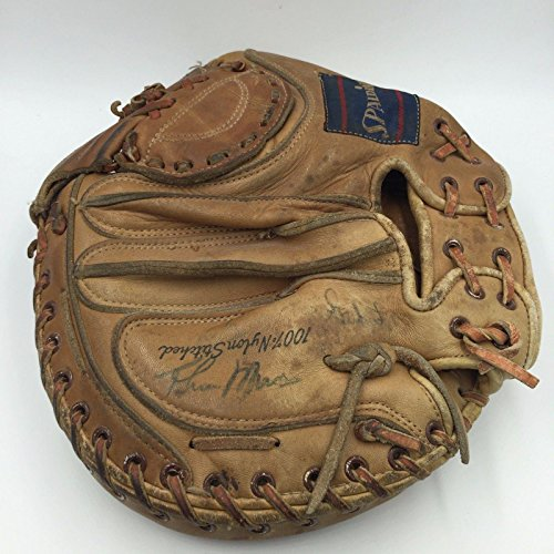 Incredible 1970's Thurman Munson Signed Autographed Catchers Mitt Glove COA - JSA Certified - Autographed MLB Gloves