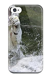 New Fashionable TashaEliseSawyer Cover Case Specially Made For Iphone 4/4s(white Tiger) 8396241K27432721