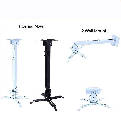 Soporte de Techo inclinable para proyector, Ajustable 130 o 430 ...