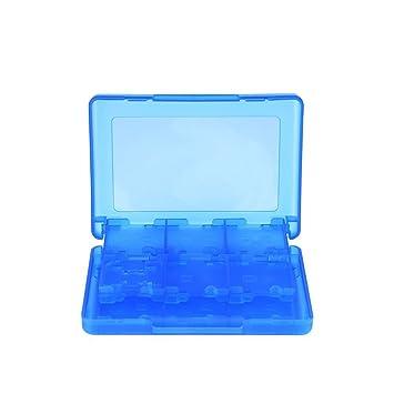28 en 1 Tarjeta de Juego Estuche Protector, Soporte Organizador para 3DS XL 3DS 2DS DSi XL DSi DS Lite y DS, Azul