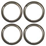 Set of 4 Chrome plated Steel 15 Universal 1.75 inch Beauty Trim Rings 1515C by IWC
