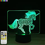 night lights for kids rooms - Night Light Unicorn 3d Night Light 7 Colors Change with Remote Night Lights for Kids Room Decor or Perfect Gift for Kids by Easuntec (Unicorn)