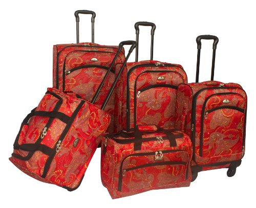 american-flyer-luggage-paisley-5-piece-set-spinner-red-purple-one-size