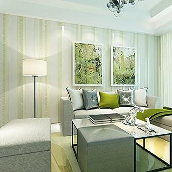 Lzhenjiang Wandbilder Nicht Selbstklebende Auf Das Vlies Tapete Vertikale  Streifen Blau Grün Wohnzimmer Schlafzimmer Tv Voll