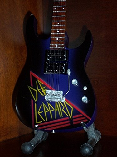 Mini Guitar DEF LEPPARD TRIBUTE Display GIFT Def Leppard Guitar