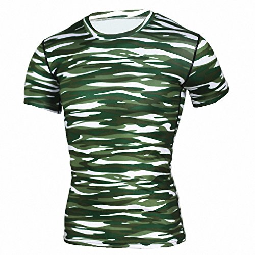Base Layer Camouflage T Shirt Fitness Tights Quick Dry Camo T Shirts Tops & Tees Crossfit Compression Shirt TD44 Asian XXL