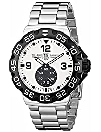 TAG Heuer Men's Formula 1 Grande Date Dial Stainless Steel Watch White WAH1011.BA0854