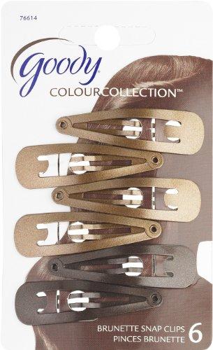 Goody Colour Collection Contour Hair Clips, Brunette, 6 Coun