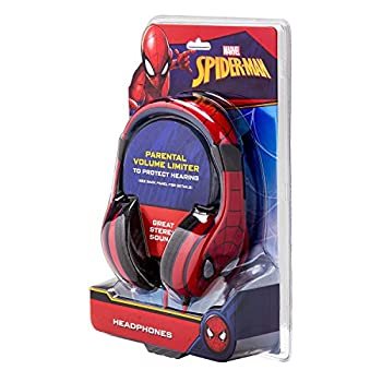 Spiderman Headphones For Kids With Built In Volume Limiting Feature For Kid Friendly Safe Listening 7