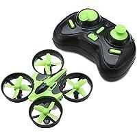 EACHINE Mini Quadcopter Drone, E010 2.4GHz 6-Axis Gyro Remote Control Nano Drone for Kids Adults Beginners - Headless Mode, 3D Flip, One Key Return (Green)