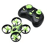 EACHINE Mini Quadcopter Drone, E010 2.4GHz 6-Axis Gyro Remote Control Nano Drone for Kids Adults Beginners - Headless Mode, 3D Flip, One Key Return (Green)