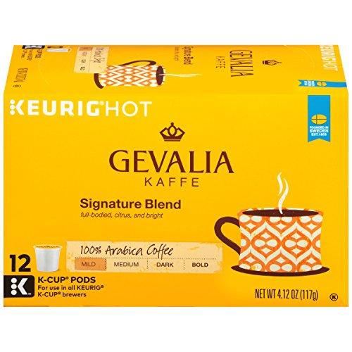 - Gevalia Mild Signature Blend Keurig K Cup Coffee Pods (12 Count)