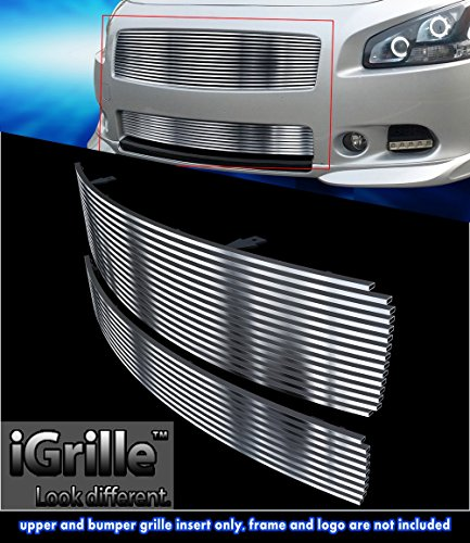 - Off Roader Stainless Steel eGrille Billet Grille Grill Combo for 2009-2014 Nissan Maxima