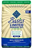 Blue Basics Limited Ingredient Diet Adult Grain Free Duck & Potato Dry Dog Food 22-Lb For Sale