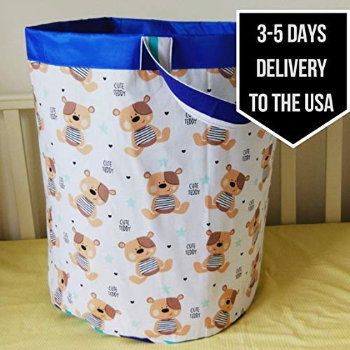 50% OFF!!! Cyber week sale Black Friday Christmas Basket for toys Fabric storage bin Laundry basket Kid storage bin Laundry bag Teddy bear]()