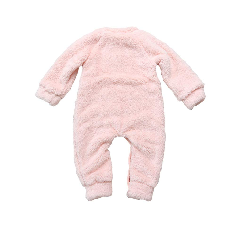URMAGIC Baby Romper Newborn Baby Boys Girls Thick Warm Cute Cartoon Pattern Romper Jumpsuit Outfit Infant Autumn Winter Clothes Home Costume