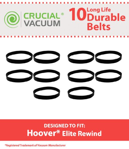 10 drive belts for Hoover Elite Rewind, Legacy Agitator V...