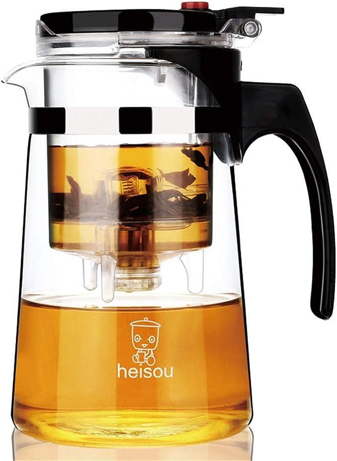 Kungfu Tetera, elegante taza de maceta flotante, extraíble y lavable, filtro para el hogar (750 ml): Amazon.es: Hogar