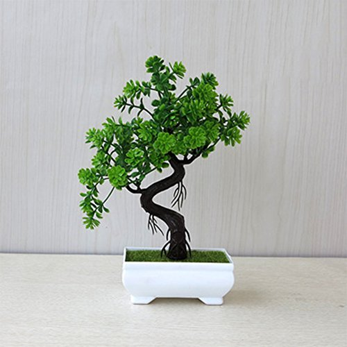 Whthteey Bonsai Tree Decorative Artificial Plant Faux Potted Plant Office Home Decor (Office Furnishings Decor)