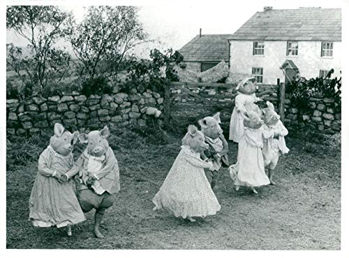Vintage photo of Dances from The Royal Ballet in London dressed up for fairy tales in