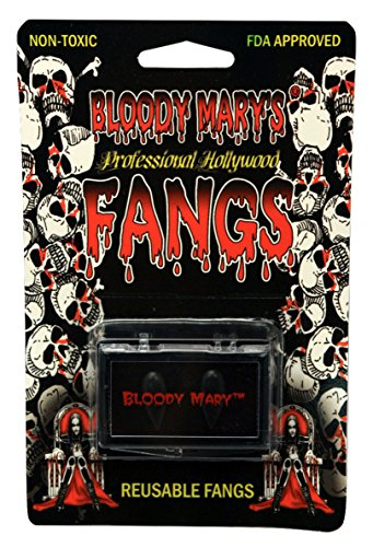Vampire Teeth By Bloody Mary - Fake Fangs Ideal For Halloween & Theatrical Performances - Reusable With Permanent Molding Material - Special Effects Realistic Pointy Teeth (Jet