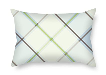 Sensational Amazon Com Niceplw Throw Christmas Pillow Case Of Tartan Ncnpc Chair Design For Home Ncnpcorg